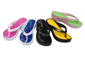 Women-039-s-Flip-Flops-Sandals-Slip-On-Thongs-Beach-Pool-Casual-Cushioned-Slippers