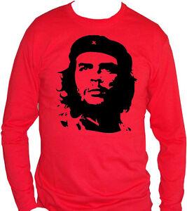 Ernesto Che Guevara Manga Larga Camiseta Hombre Mujer Unisex Cuba Revolución Vintage