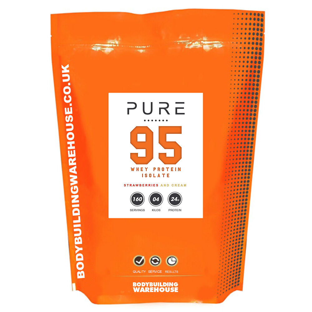 4KG PURE WHEY PROTEIN ISOLATE POWDER SHAKE - 95% PROTEIN CONTENT (Strawberry)
