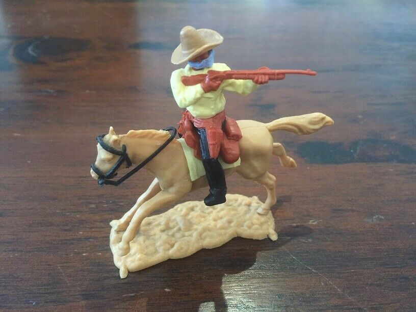 Timpo Masked Bandit Mounted - Beige  Ten Gallon  Bandit Hat - Wild West