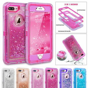 info for 0db82 d283a Details about For iPhone 7 8 6s x & Plus Glitter Liquid Defender Case Clip  Belt Fits Otterbox