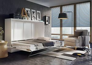 Image Is Loading Gloss Front Double Wall Bed Horizontal Foldaway Murphy