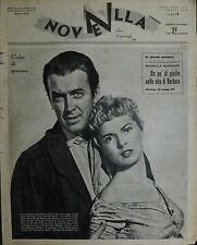 * NOVELLA N°6 ANNO XXXV° 7/FEB/1954 : JAMES STEWART e JANET LEIGH - V. DE SICA