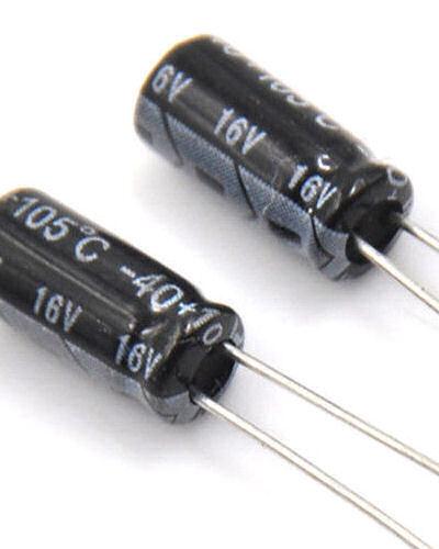 NEW McIgIcM Electrolytic Capacitors 16v 100uf 5X7MM Aluminum Electrolytic 2 PACK
