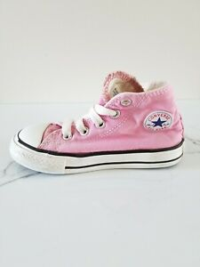 Baby Girls Pink Converse Shoes Size 7