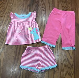 Carters Baby Girls Infant Girls 3 Piece Pajamas Set Mouse