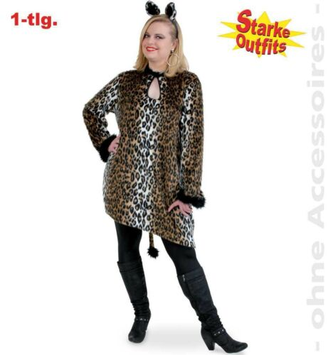 Leopard costume taille 54-58 xxl forte tailles robe mardi gras carnaval 1210447g13