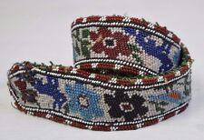 Traditional Antique Native North American Beaded Handmade Beadwork Belt #3