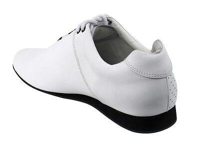 Unisex Salsa Bachata Merengue Black Leather Dance Shoes Size Women 13.5 Men 12.5
