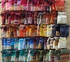 Set of 100 bunt seide satin kordelzug mini beutel gemischte farben