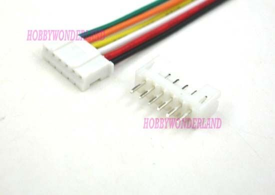 JST 2.0mm PH 6-Pin Female Housing Connector with Wire and Male Connector 10 Sets