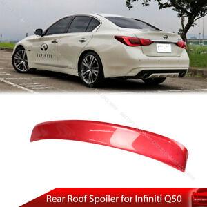 Painted For INFINITI Q50 V37 Sedan Roof Sport Window Visor Spoiler 14-16 PUF New