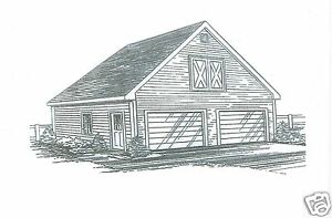 24 x 24 2 car fg garage building blueprint plans w storage attic image is loading 24 x 24 2 car fg garage building malvernweather Image collections