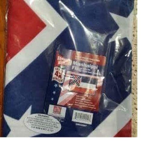 3X5 ft Mississippi flag superknit polyester