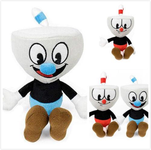 2PC//Set Cuphead Plush Toys Cuphead Mugman Mecup Or Brocup Soft Stuffed Doll Kid