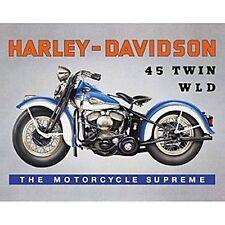 Harley Davidson 45 Twin WLD steel fridge magnet  (fd)