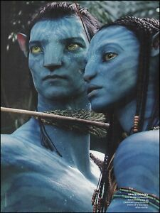 Details About Avatar 2010 Movie Sam Worthington Zoe Saldana 8 X 11 Color Pin Up Photo Print