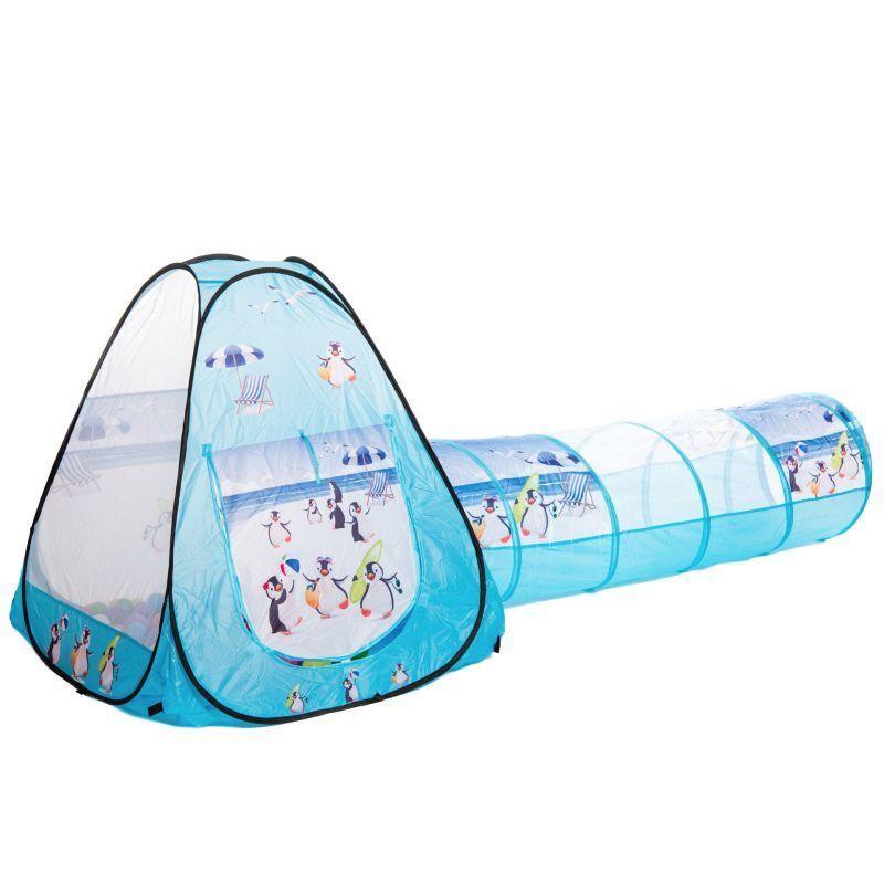 SOMMER PINGUINE Tunnel Bällebad Spielzelt mit oder ohne Bälle    Good Design