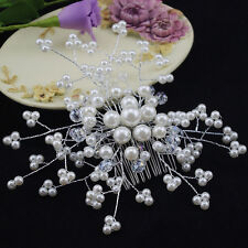 Wedding Bridal Pearl Hairpin Crystal Hairclip Bridesmaid Jewelry Crystal Hairpin