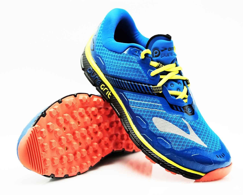 Brooks Herren Laufschuhe Pure Grit 5 blau gelb H10 Gr 42   42,5