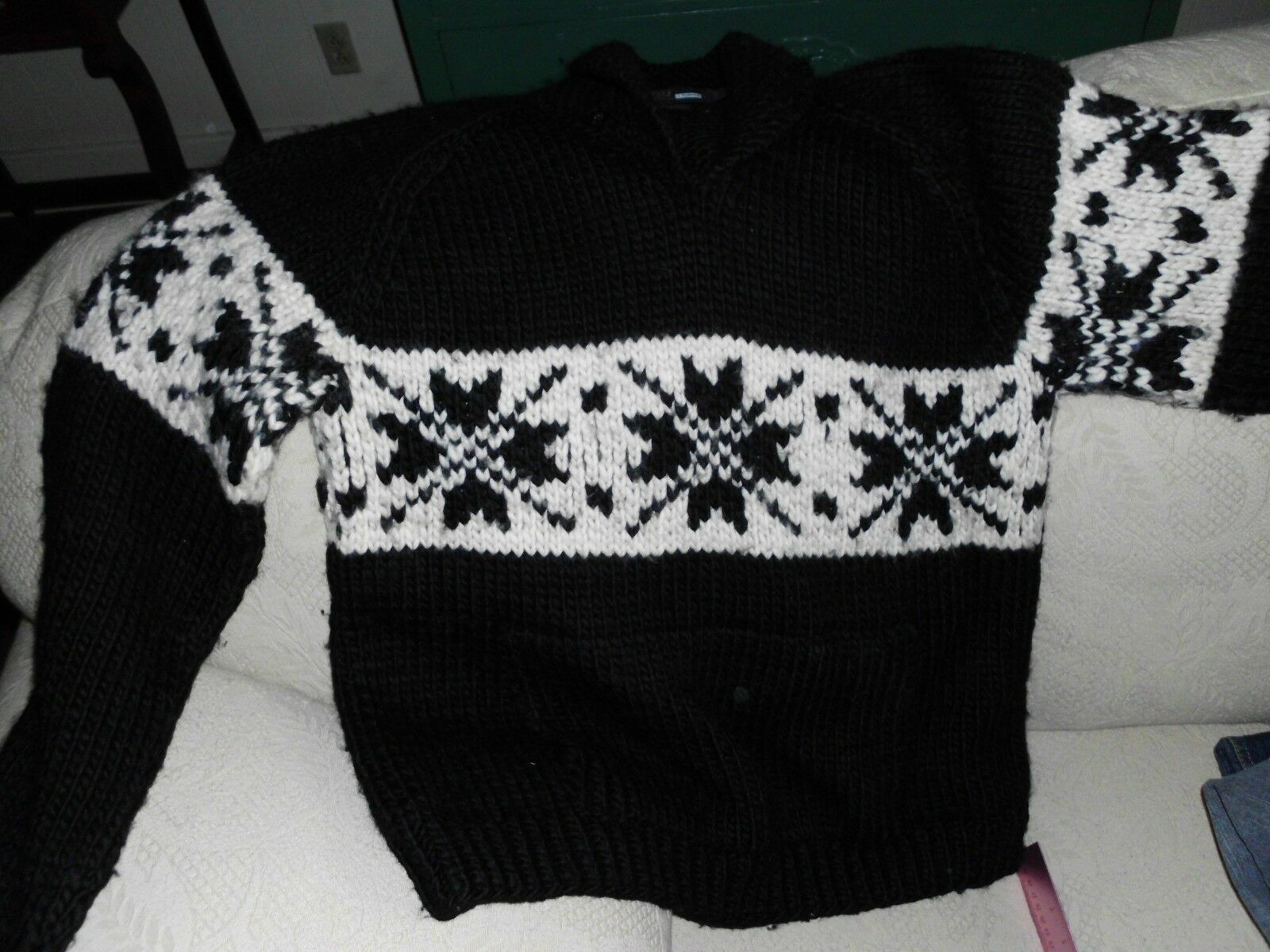 Polo, Hand knitted sweater, 100% wool