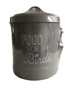 Vogel-Futter-Aufbewahrung-Dose-mit-Schaufel-Metall-Voegel-Fuetterung-Halter-Kerne