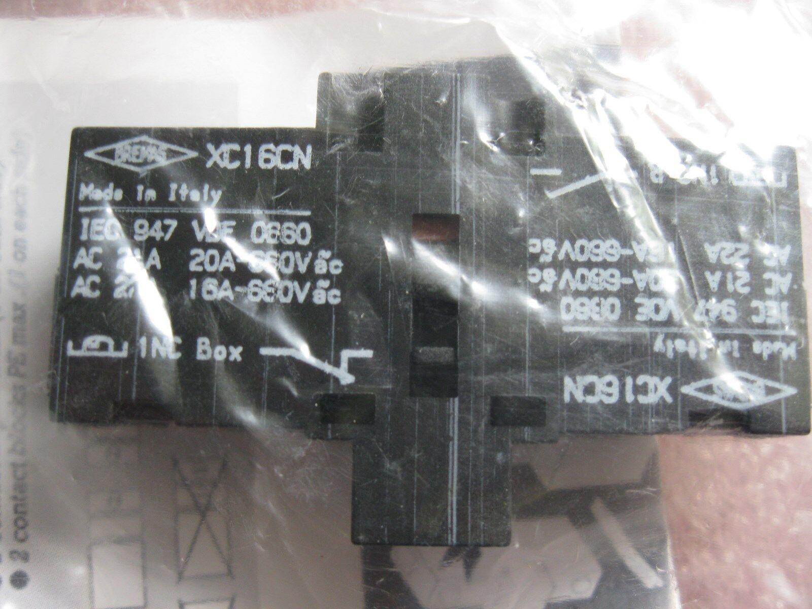 BREMAS XC16CN AUX CONTACTOR-LOT OF (2)-NEW  102679