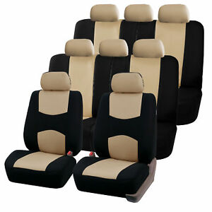Car-Seat-Covers-for-Auto-SUV-Van-Truck-3-Row-Beige