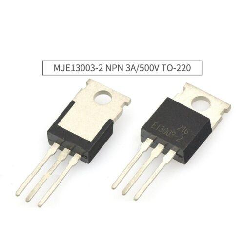 5PCS MJE13003-2 E13003-2 négatif Positif Négatif 3 A 500 V Transistor TO-220