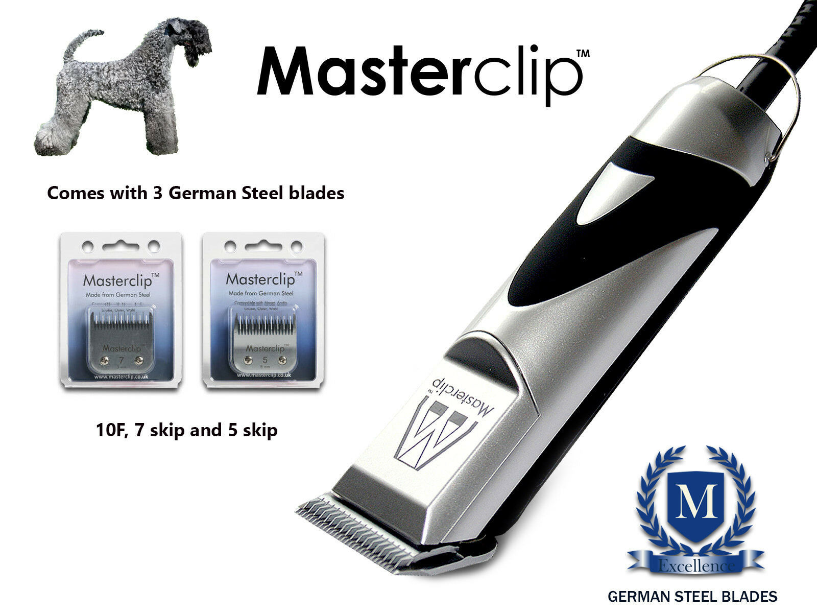 KERRY Blue Dog Clippers Set Si Adatta Oster & ANDIS lame da Masterclip Professional