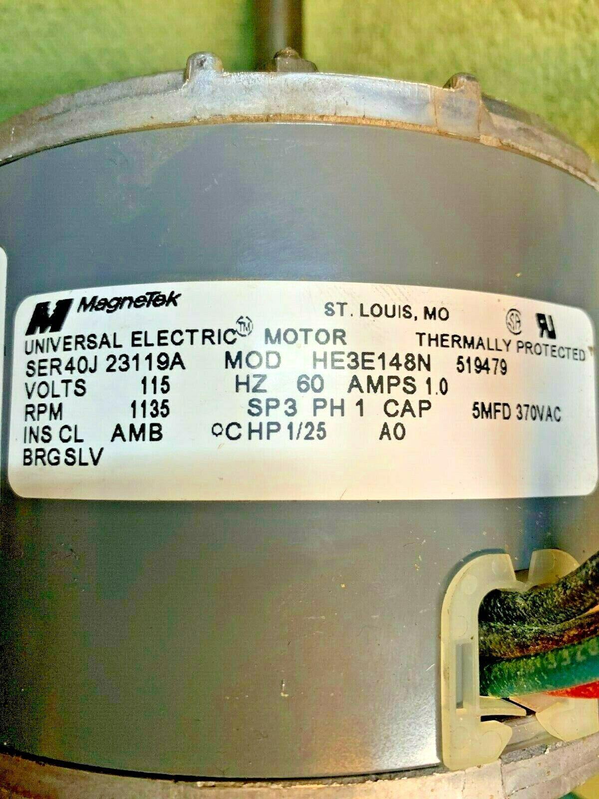 FRIGIDAIRE MAGNETEK AIR CONDITIONER MOTOR DUAL SHAFT 115 VOLT 10AMP SINGLE PHASE