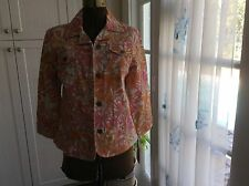 New with Tags Heart of Palm Colorful Jean Jacket Size 10 Retail Cost $58