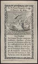 santino incisione 1600 S.RESTITUTA DI TENIZA V.M.