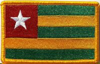 Togo Flag Military Patch With Velcro® Brand Fastener Gold Border 1
