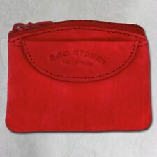 Bag Street OPJ901R glattes Leder. SilberDream Schlüsseltasche rot Echtleder