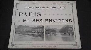 Folleto Inundaciones De Janvier 1910 París Y Sus Aprox Ed. A. Taride Buen Estado