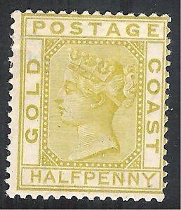 Gold-Coast-1876-olive-yellow-1-2d-crown-CC-mint-SG4