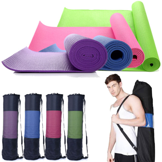 "Extra Thick Non-slip Yoga Mat Pad Exercise Fitness Pilates w/ Bag 68"" x 24"""