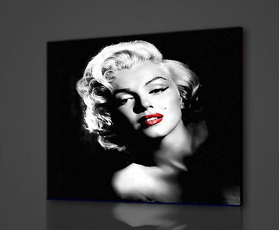 MARILYN MONROE ICONIC CELEBRITY RED LIPS BOX CANVAS PRINT WALL ART PICTURE PHOTO