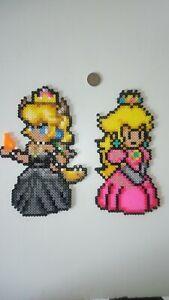 Détails Sur Princesse Peach Et Bowsette Perler Hamanabbi Pixel Art