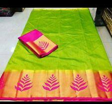 Designer Wear Lovely Tussat Silk with Banglore Silk