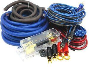 gravity 4 gauge amp kit amplifier install wiring set ofc best 4500 rh ebay com best amplifier wiring kit india best buy car amplifier wiring kit