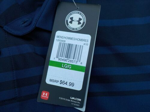 loose or gray XL stripes men/'s L $65 blue Details about  /NWT Under Armour Heat Gear polo