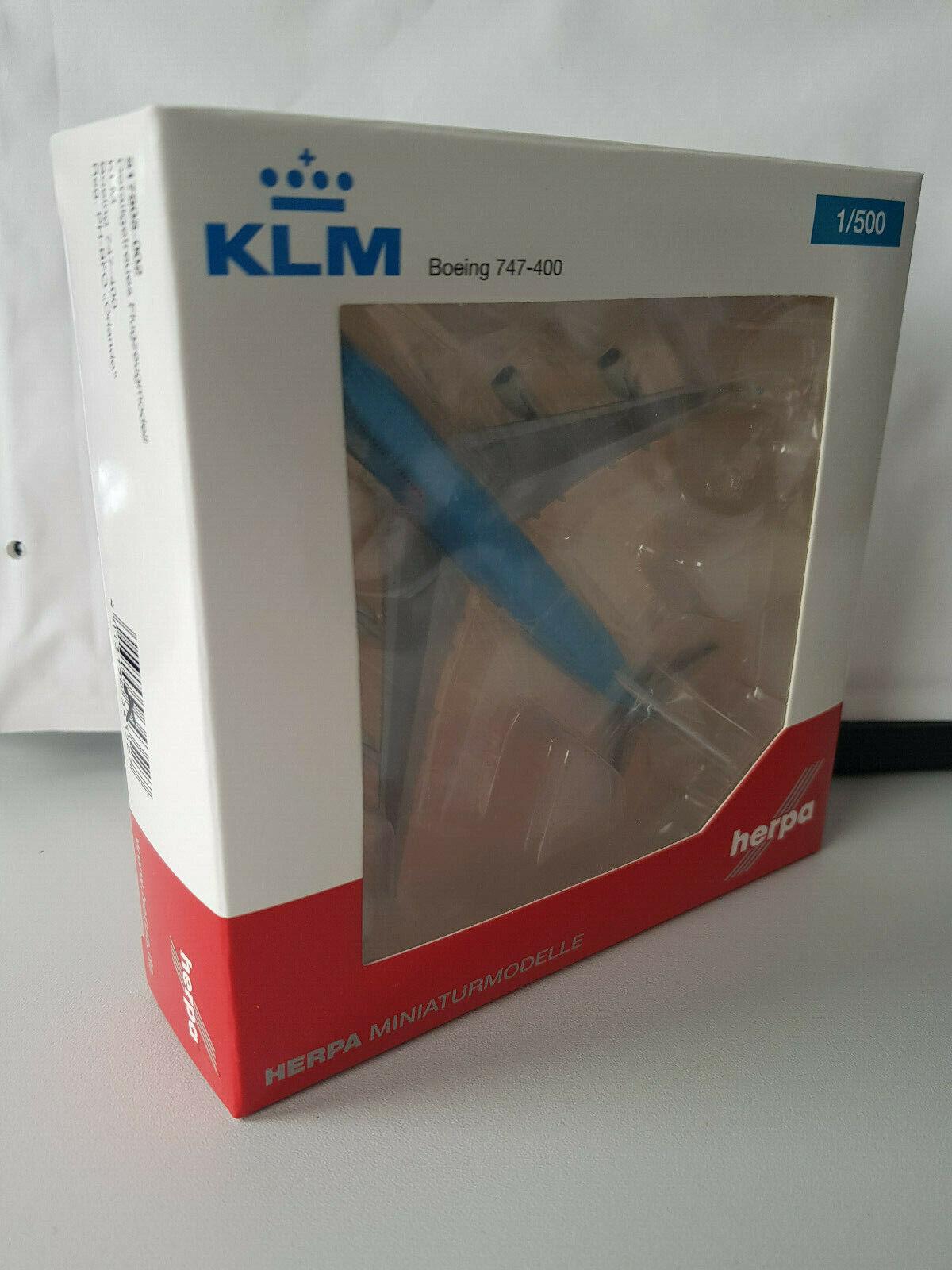 1 500 Herpa Wings 517805-002 KLM Boeing 747-400 Registration PH-BFO, NEU RAR