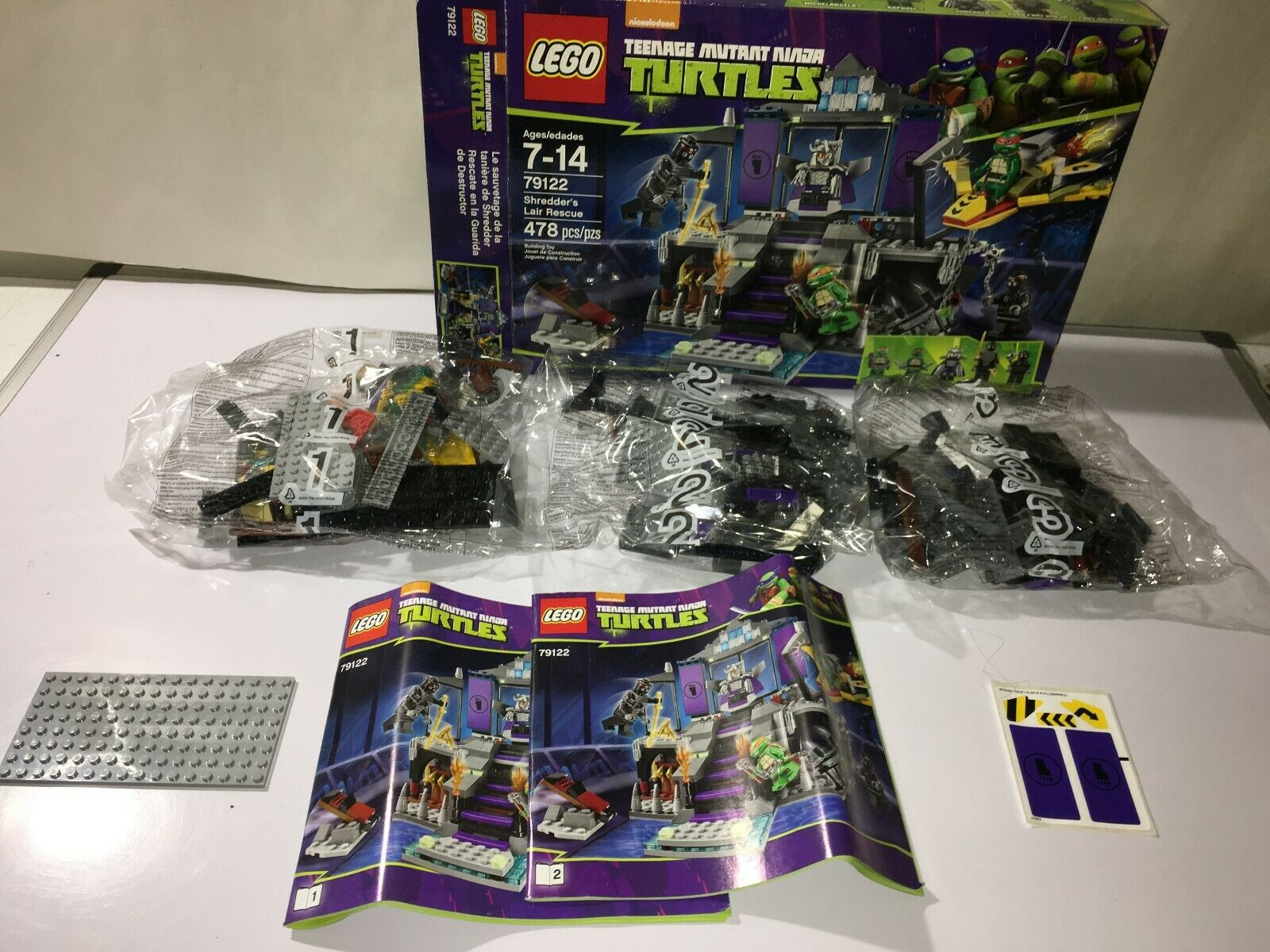 LEGO TMNT  79122 Shrotder's Lair Rescue NEW IN OPEN BOX