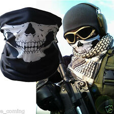Cosplay Skull Half Face Mask Ghost Scarf Neck Warmer Party Bicycle Ski Outdoor