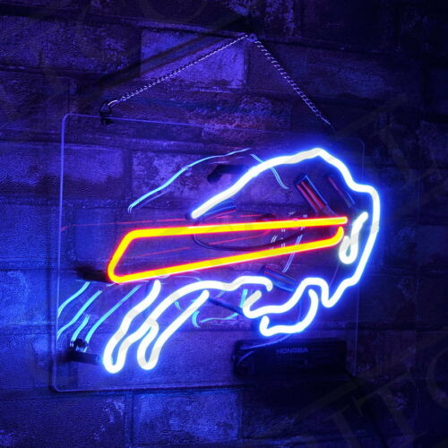 """14/""""x9/""""Bull-Fighting Neon Sign Heim Zimmer Neonleuchte Handwerk Echtglasröhre"""