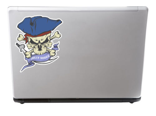 2 X 20 Cm Jolly Roger Calavera adhesivos de vinilo de Crossbones Laptop Bandera De Pirata # 6629