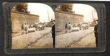 ROAD MAKING NANKING CHINA KEYSTONE STEREOVIEW PHOTO (c. 1900)
