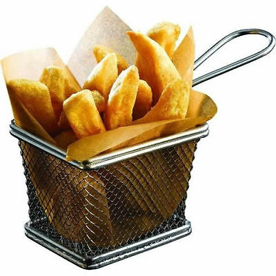 STAINLESS STEEL MINI CHIP FRY BASKET  SERVING BASKET FOR FRIES